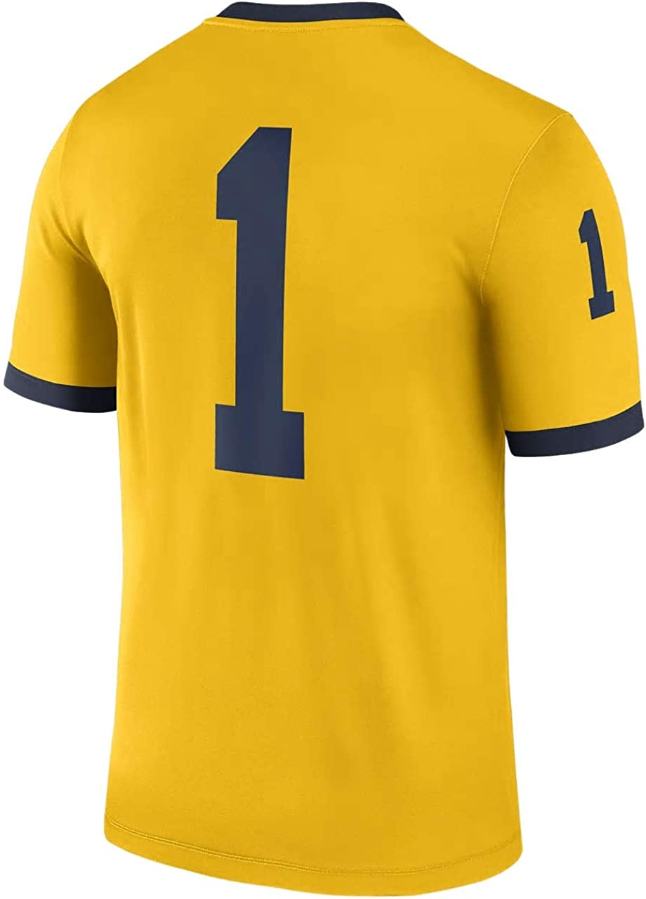 Nike Big Kids Michigan Wolverines Alternate Youth Game Jersey Maize Blue Size: Medium