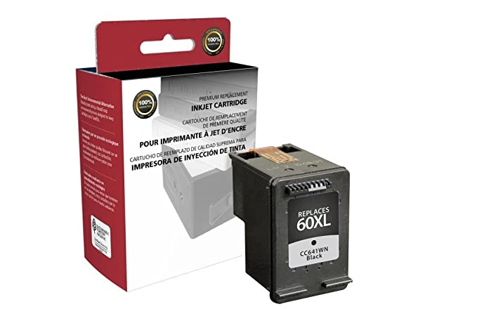 HY Black 3pk HP 60XL LD Reman Replacement Ink Cartridges for HP CC641WN