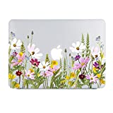 Lapac MacBook Pro 15 Inch Case Wildflower, Galsang Flower Clear Case, Soft Touch Hard Shell Case for A1990 A1707 Released 2019 2018 2017 2016