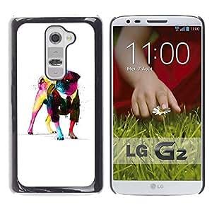 LECELL -- Funda protectora / Cubierta / Piel For LG G2 D800 D802 D802TA D803 VS980 LS980 -- Cool Awsome Gentleman Pug --
