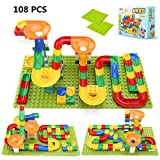 HKF 108 PCS Marble Run Building Blocks Toys Set Crazy Ball Marble Run Toy Set