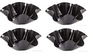 Tortilla Pan Set Non Stick Steel Taco Salad Bowl Makers Tortilla Shell Maker EXTRA THICK STEEL Set of 4