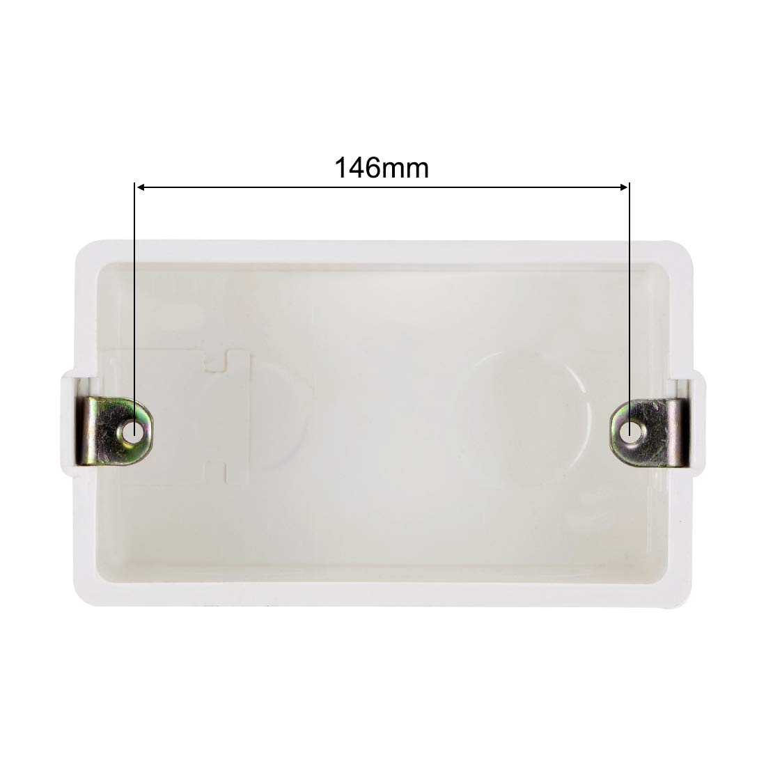 32 2pcs 86 sourcing map Wall Switch Box Deep Case Recessed Mount 86 Type Single Gang White 173