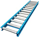 Gravity Conveyor 1-3/8″ Dia. / 1.4' Galvanized Steel Rollers on 6' Roller Centers. 12″ Wide, 5′ Long Steel Frame - Ultimation
