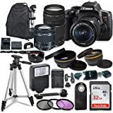 Canon EOS Rebel T6i Digital SLR Camera with Canon EF-S 18-55mm is STM & 75-300mm III Lens + Sandisk 32GB SDHC Memory Card, Backpack and Accessory Bundle