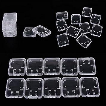 Sin marca 10X Caja Tarjeta de Memoria SDHC MMC TF Micro SD Caja de ...