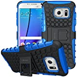 ykooe phone Case for Samsung Galaxy S7 Edge Cover Silicone Heavy Duty Armor (Blue)