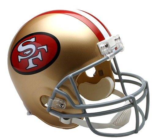 San Francisco 49ers 1964-1995 Throwback Riddell Full Size Deluxe Replica Football Helmet - New in Riddell Box