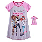 Nightgown for Girls and Matching Doll Nightshirt Sleepwear (Medium 7/8)