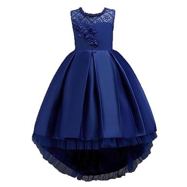 Vestido de fiesta para niñas Vestido de dama de honor de fiesta de princesa Formal vestido de niña de las flores Fiesta de cumpleaños de los niños ...