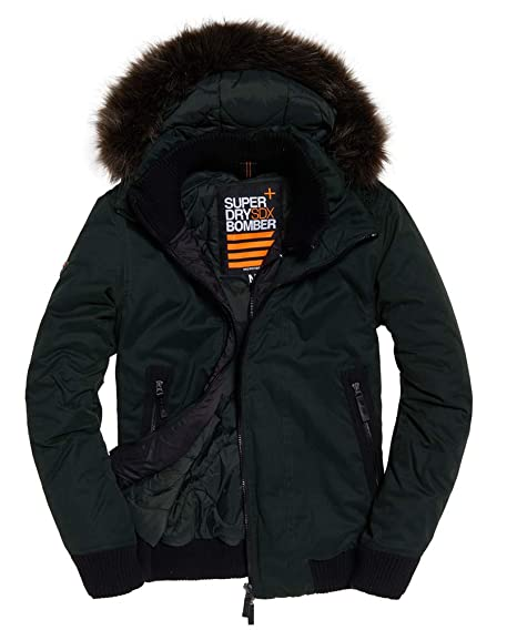 125ee778be Amazon.com: Superdry Mens Microfibre SD-Wind Bomber Jacket Ivy Green ...