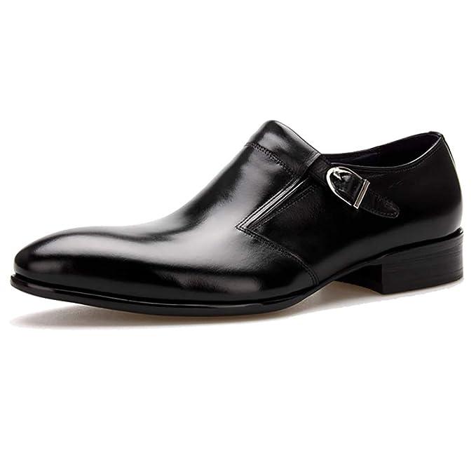 9da796a7229 Hombres Zapatos Monje Cuero De Los Con Cosido Correa Casuales 6mvIY7ybfg