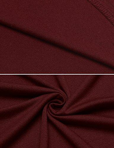 Ekouaer Plus Size Nightshirt Women's Short Sleeve Sleep Gown Soft Long Nighty Dress (Wine Red,XXL) by Ekouaer (Image #6)