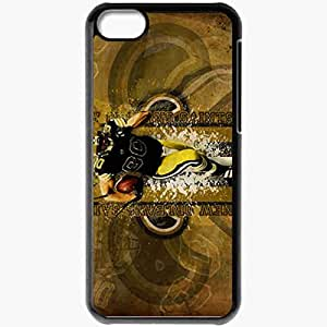 Personalized iPhone 5C Cell phone Case/Cover Skin 14253 saints wp 48 sm Black
