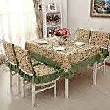 """Crazy Cart Reflections Spill Proof Rectangle Tablecloth With Fold Edge 52""""X71"""""""