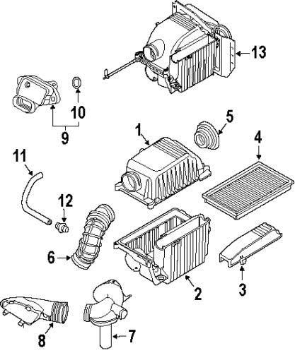 Air Filter Suction Hose 13721491743: