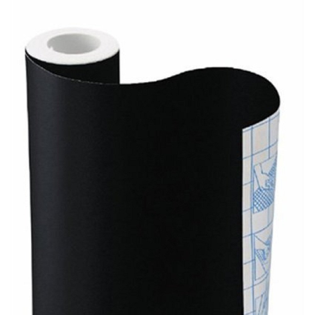 Onwon Sticky Back Chalkboard Black Contact Paper Roll Makes Any Surface an Erasable Creative or Organization Feature in Your Home or Office With 5 Pcs Free Chalk(18 78 Inchs) 6113199