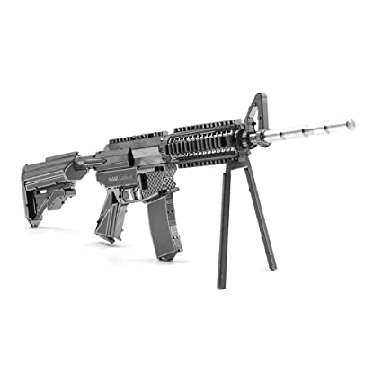 Amazon Com Metal Puzzle Home Decoration 3d Diy 21cm M4a8 Carbine