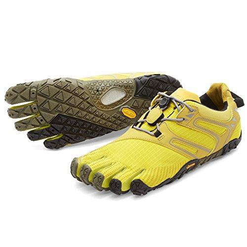 Vibram Women's V Trail Runner, Yellow/Black, 37 EU/6.5 M US by Vibram (Image #1)