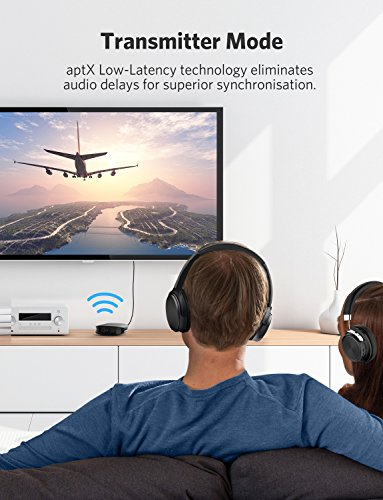 Anker Soundsync A3341 Bluetooth 2-in-1 Transmitter and Receiver, with Bluetooth 5, HD Audio with Lag-Free Synchronization, and AUX/RCA/Optical Connection for TV and Home Stereo System by Anker (Image #1)