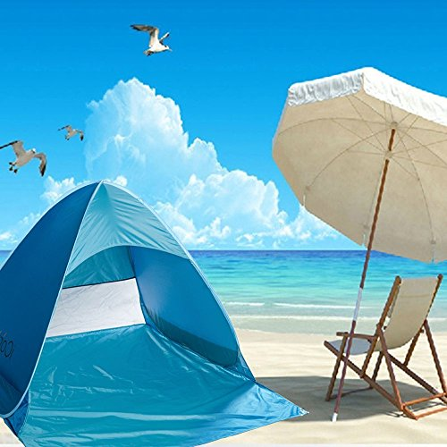 Beach Cabanas Portable Shelter : Icorer automatic pop up instant portable outdoors quick