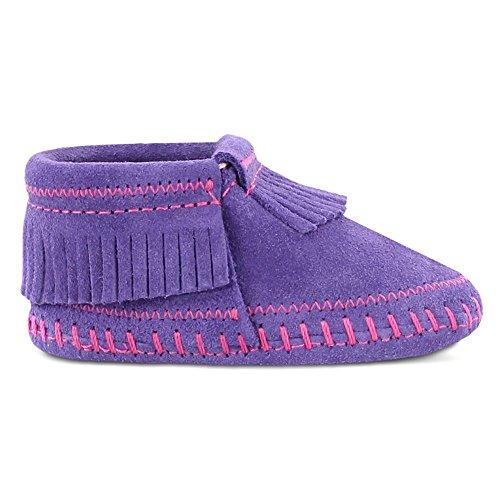 Minnetonka Unisex Baby Riley Bootie Krabbelschuhe Violett (Purple)