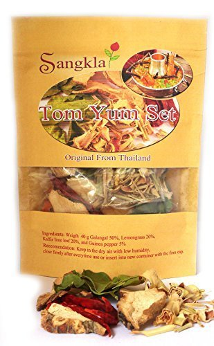 Sangkla Tom yum set Thai Food Hot & Spicy Soup from Natural ready-made for the kitchen add shrimp shellfish crab fish pork chicken meat On demand 40g - Crab Meat Soup