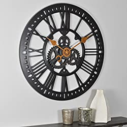 FirsTime & Co. Roman Gear Wall Clock, 24, Oil Rubbed Bronze