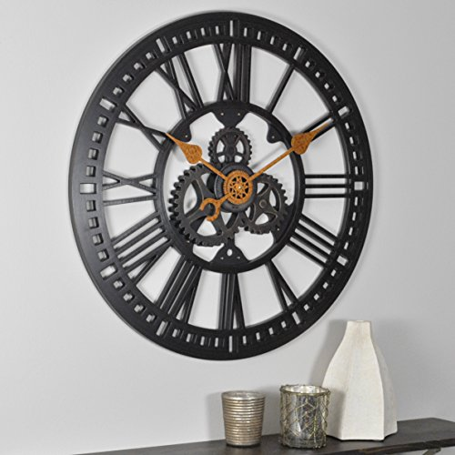 "FirsTime & Co. Roman Gear Wall Clock, 24"", Oil Rubbed Bronze"