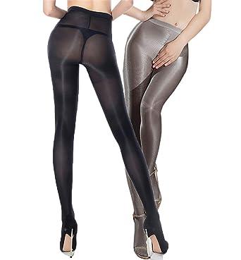 a9975f9eee4 2 Pairs Shaping Ballet Oil Socks Shiny Silk Stockings Pantyhose Dance Tights  (Black+Grey
