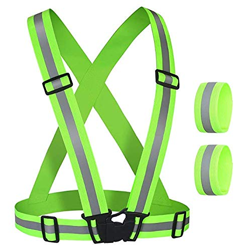Objective 1 Pcs Unisex Outdoor Cycling Safety Vest Bike Ribbon Bicycle Light Reflecing Elastic Harness For Night Riding Running Jogging Back To Search Resultssports & Entertainment Bicycle Light