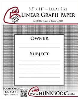 linear graph paper 1mm grid msl1l 200 pages legal size mighty
