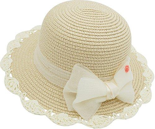 Little Children Babies Lace Bowknot Princess Sun Bonnet Straw Hat by Fairy Wings (Image #1)