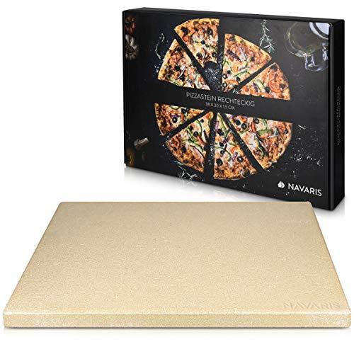 Navaris Pizza steen XL voor oven Grill van cordieriet – Pizza steenoven Brood bakken Flammkuchen – Gasgrill…