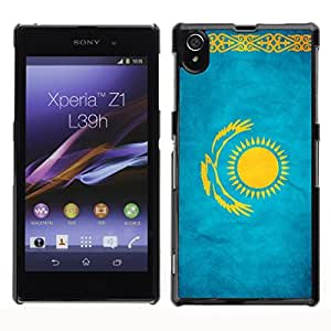 Shell-Star ( National Flag Series-Kazakhstan ) Snap On Hard Protective Case For SONY Xperia Z1 / L39H / C6902 / C6903 / C6906