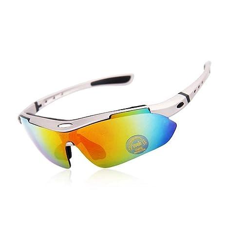 JIAAE Uomini e donne occhiali da sole all'aperto polarizzati occhiali sportivi con miopia adatto per la pesca a sci e arrampicata, black and blue