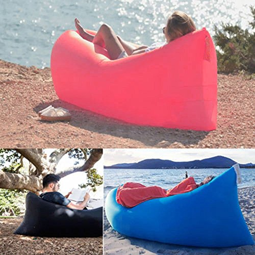 Vetroo Outdoor Inflatable Hangout Portable Bag Lounger - BLUE