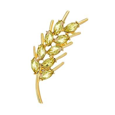 82b0e7624a2 Amazon.com: GTHYUUI Brooches Pins Spike of Rice Shape Design High ...