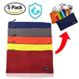 Canvas Tool Bag- 5 Pack -Waxed- Water Resistant - Vibrant Colors - Upgrade Your Storage Experience- Metal Zipper- Multipurpose Premium Bags- Ultra Durable