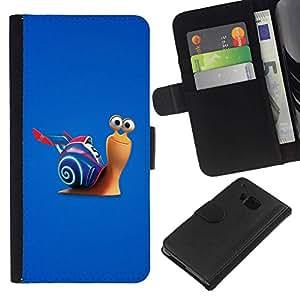 All Phone Most Case / Oferta Especial Cáscara Funda de cuero Monedero Cubierta de proteccion Caso / Wallet Case for HTC One M9 // Fast Snail