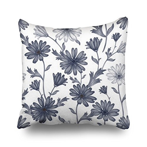 Sneeepee Decorative Throw Pillows Covers Seamless Pattern Wildflowers Fabrics Wallpaper Design Square 16x16 Inches Pillow Cases Design Home Decor Sofa Cushion Pillowcases - Simplex Square