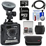 HP f310 1080p HD GPS G-Force Car Dashboard Video Recorder Camera with 64GB Card + Case + HDMI Cable + Kit