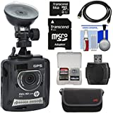 HP f310 1080p HD GPS G-Force Car Dashboard Video Recorder Camera 64GB Card + Case + HDMI Cable + Kit