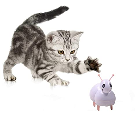 Umiwe Juguete del Gato del Animal Doméstico Juguete Electrónico de la Hormiga Juguete Automático del Gato