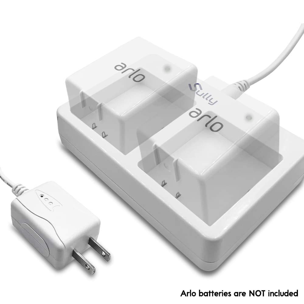Charger for Arlo Netgear Batteries (2 Ports White) - for Arlo Security Light & Arlo Pro Smart Home Cameras & Arlo Pro 2 & Arlo Go Batteries VMA4410 ALS1101 ALS1101 by Sully by Sully