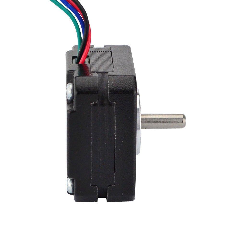 STEPPERONLINE 0.9deg Nema 17 Stepper Motor Bipolar 1.2A 11Ncm//15.6oz.in 42x42x20mm 4-wires