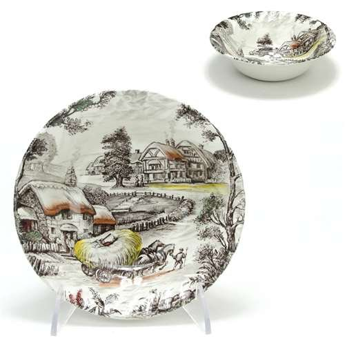 Yorkshire, Multicolor by Staffordshire, Ironstone Coupe Cereal Bowl
