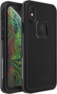 Lifeproof FRĒ SERIES Waterproof Case for iPhone Xs - Retail Packaging - ASPHALT (BLACK/DARK GREY) (Renewed)