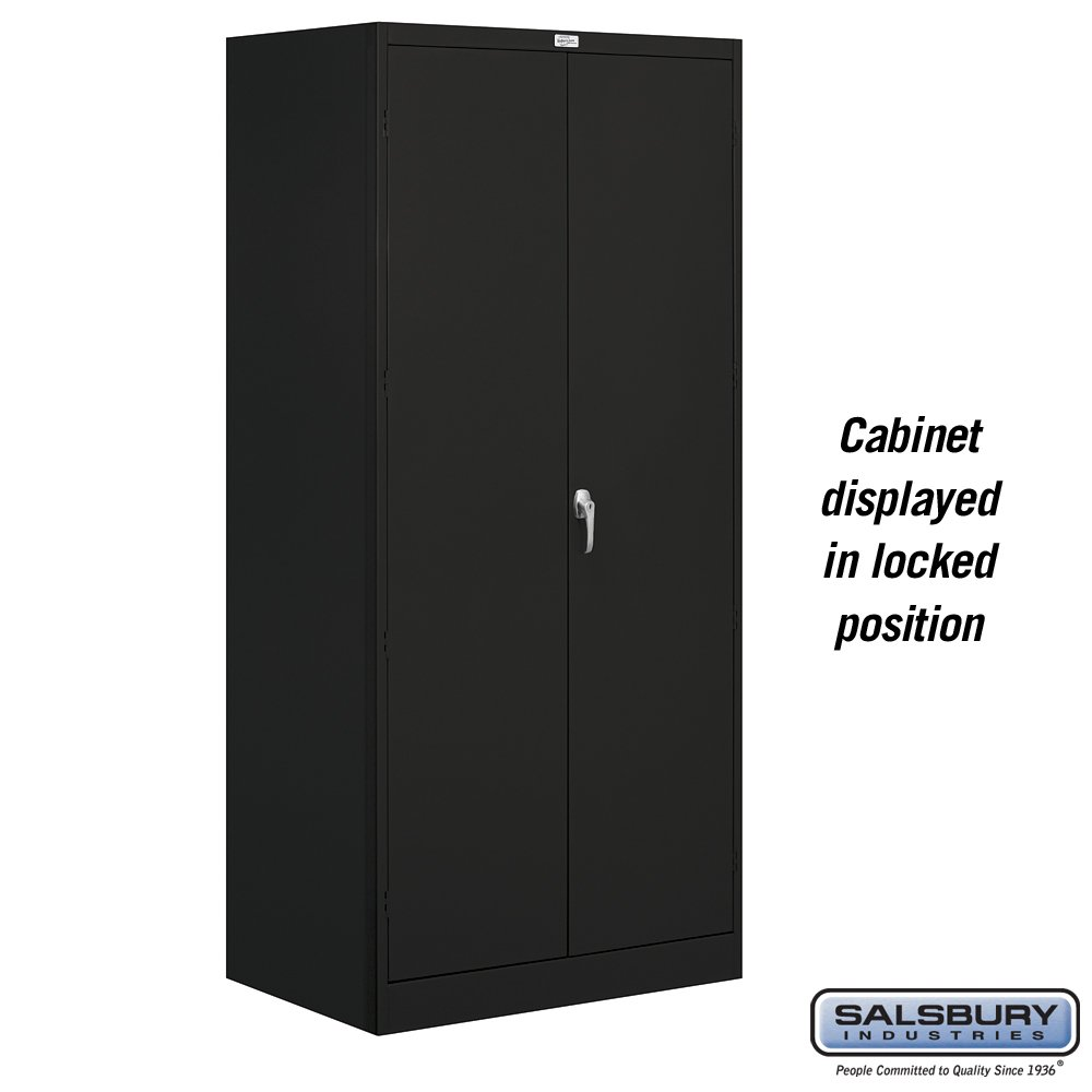 Salsbury Industries Wardrobe Storage Cabinet, 78-Inch by 24-Inch, Black by Salsbury Industries (Image #4)