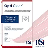 USI Opti Clear Premium Thermal (Hot) Laminating Pouches/Sheets, Legal Size, 10 Mil, 9 x 14 1/2 inches, Gloss, Box of 50